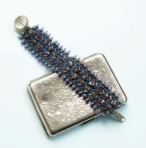 Learn how to make this right-angle weave bracelet in our bead embellishments eBook!