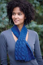 The Rittenhouse Scarf is a knitted scarf pattern found in our free Knitting Scarves for all Seasons eBook.