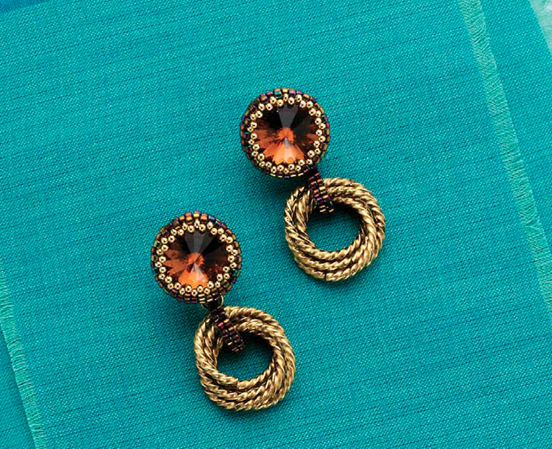 Rivoli Rings by Marla Salezze . BeadingDaily Jewelry Stringing 2016 - 33 jewelry-making projects spanning 36 techniques
