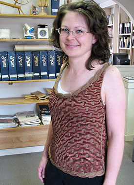 Knitting Gallery - Roped Shell Debbie