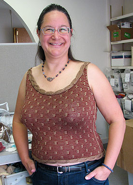 Knitting Gallery - Roped Shell Sandi