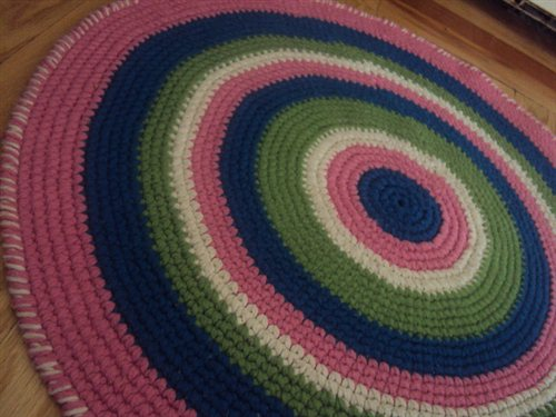 Double Stranded Round Rug In Single Crochet Interweave
