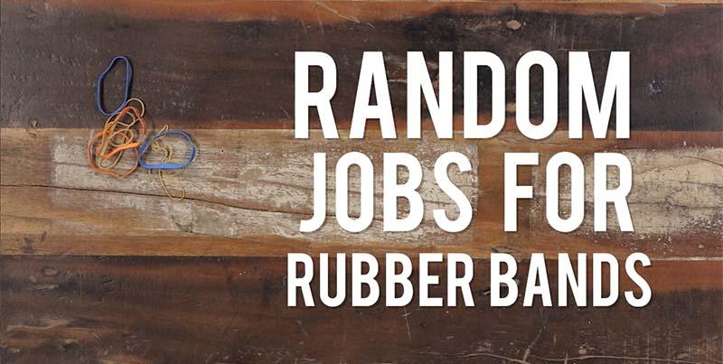 Yarn Hacks: 4 Random Jobs for Rubber Bands