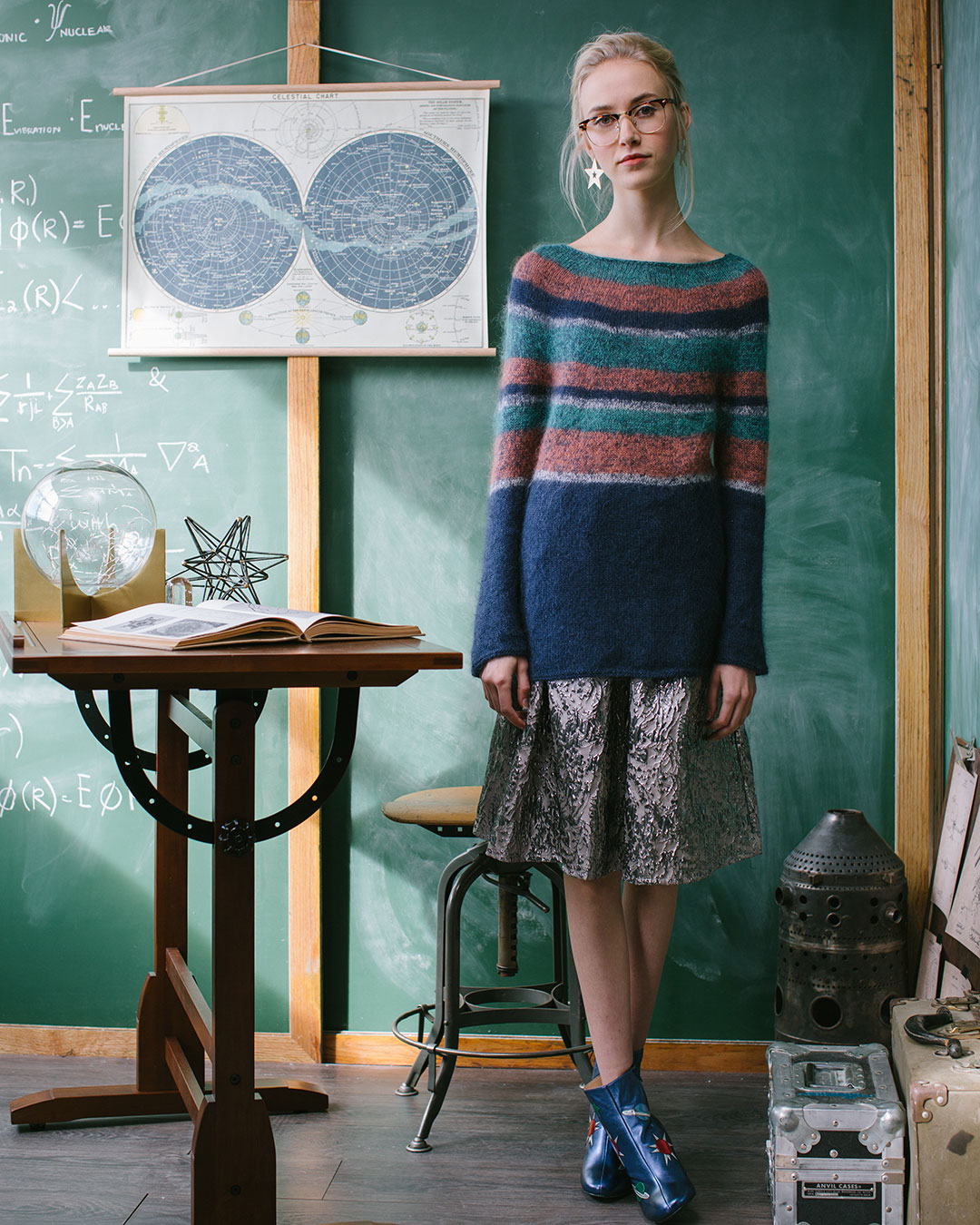 The Saturn's Rings Pullover is a tunic-length sweater.