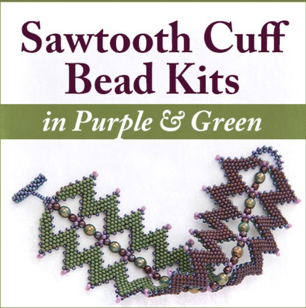 Sawtooth Cuff Bead Kit with video download