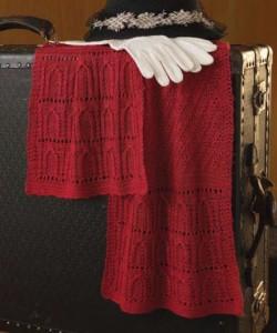 Mimi Seyferth's knit scarf