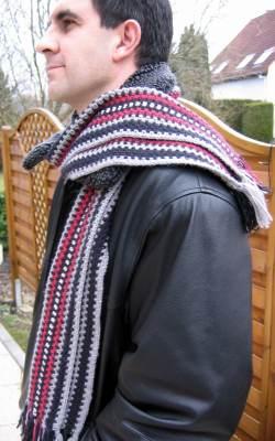 Crochet Stitch Mens Scarf : Love Scarf - Crochet Scarf for Men - Interweave