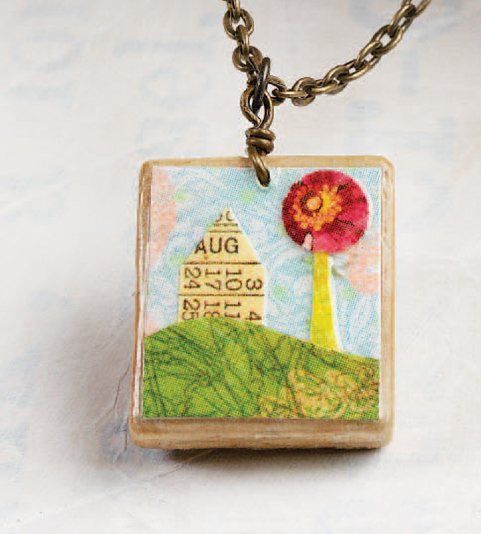 Learn how to make a pendant with a scrabble tile in this free mixed-media-jewelry-making eBook.