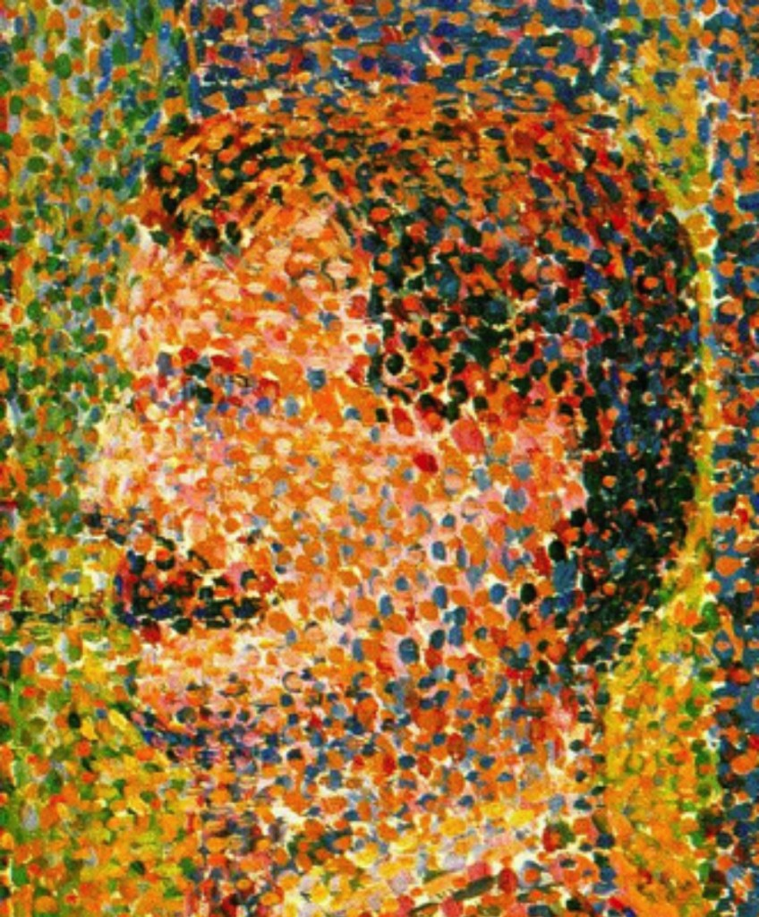 Circus Slideshow, by Georges Seurat, pointilism example