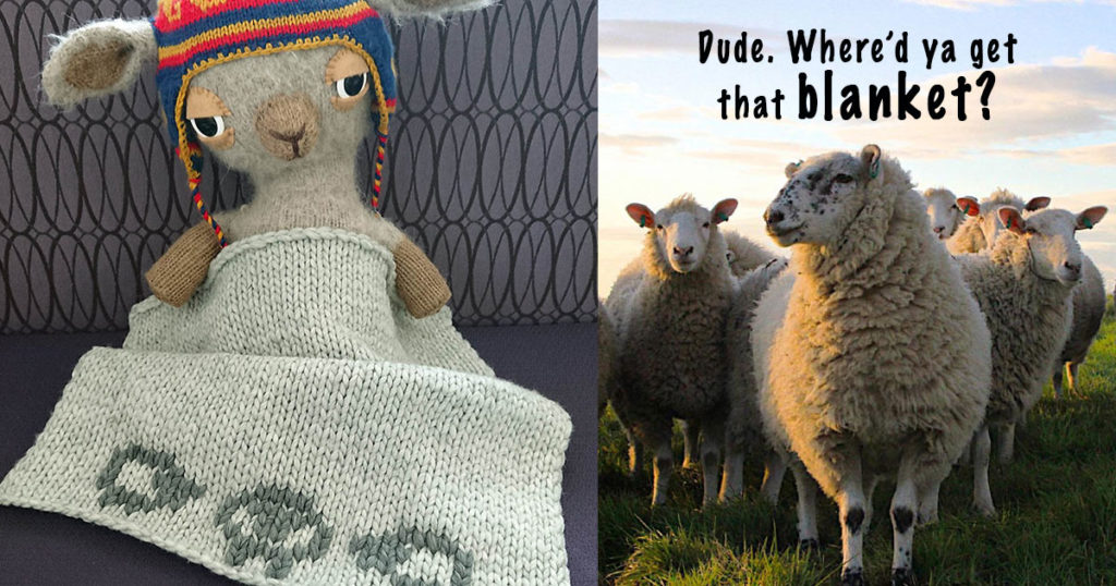 Sheep Baby Blanket: Use Lazy Colorwork to Spruce Up that Stroller