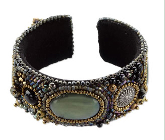 Sherry Serafin,i bead embroidered bracelet for Beads, Baubles & Jewels