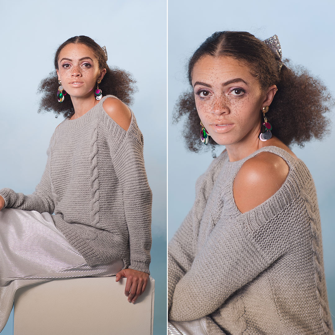 The Shimla Sweater from knitscene Winter 2018, designed by Lana Jois. | Photo by Harper Point Photography