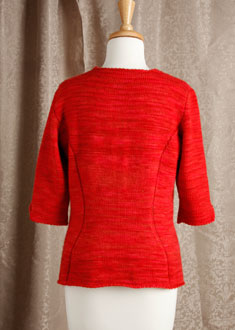 Knitting Gallery - Sidelines Top  Bertha