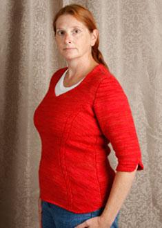 Knitting Gallery - Sidelines Top  Kat