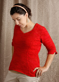 Knitting Gallery - Sidelines Top  Stef