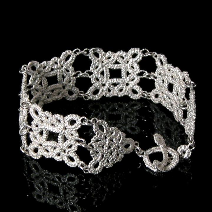 signature jewelry style:: Square Bracelet by Lorraine Kolasa.
