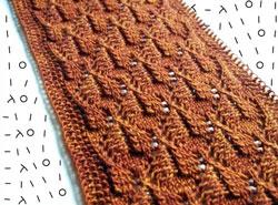 Split leaf lace shawl