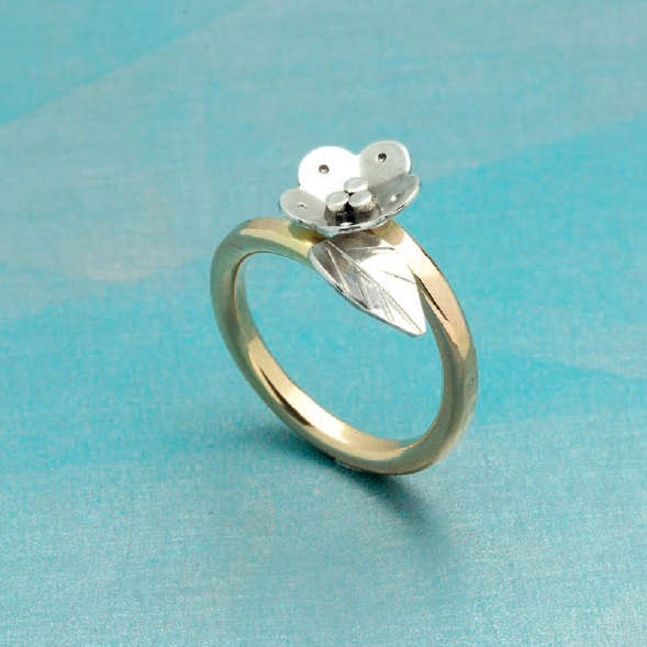 from Simple Soldering by Kate Richbourg: flower ring