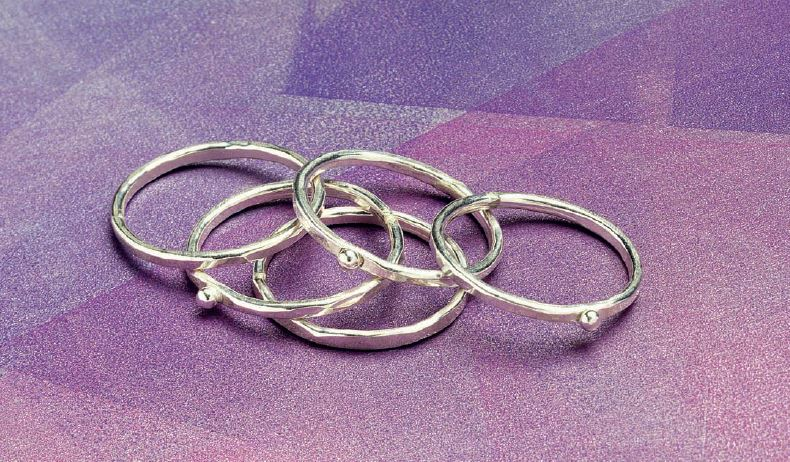 from Simple Soldering by Kate Richbourg: stack rings