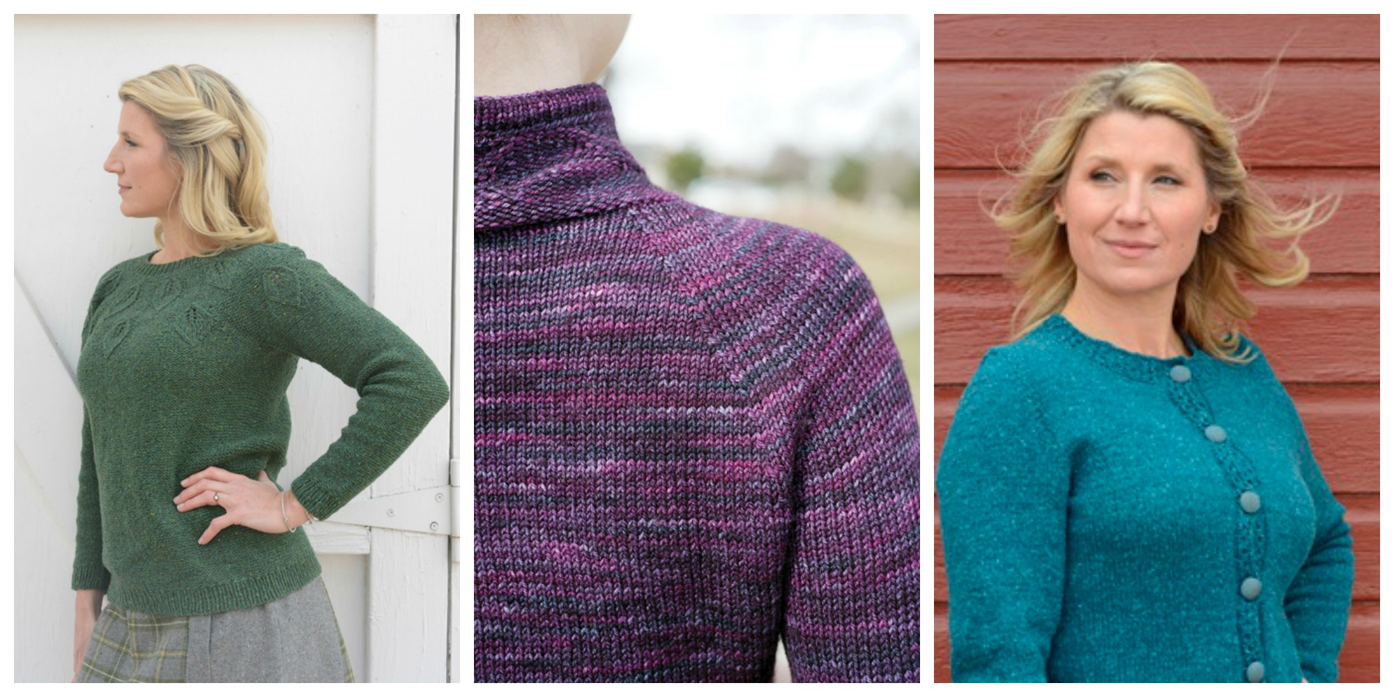 Seamless knitting in 3 kinds of sleeves.