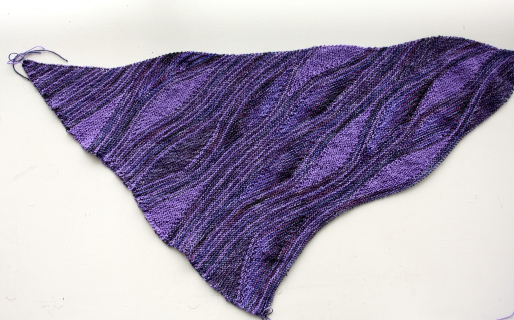 Skeino Miss Grace Knit Shawl in Progress