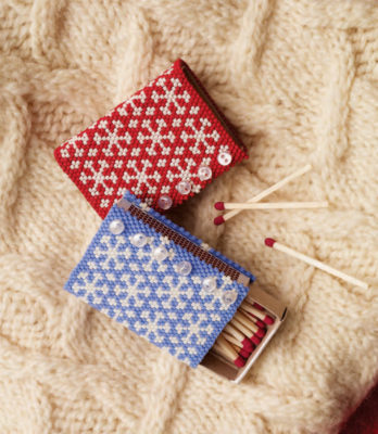 The Ski Sweater Matchbox Cover is a bead craft project found in our free Bead Craft Patterns eBook.