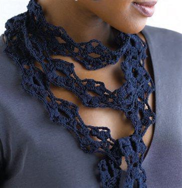 Skinny Knit Scarf Pattern : Skinny Flower Scarf - Interweave