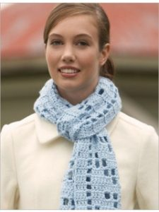 This filet crochet scarf is a fast and fun crochet project.
