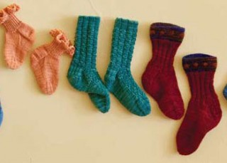 Petite Feet sock knitting patterns for children part of the free ebook.