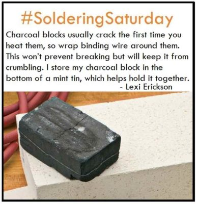 Charcoal blocks usually crack the first time you heat them up, so warp binding wire around them. This won't prevent breaking but will keep it from crumbling. I store my charcoal block in the bottom of a mint tin, which helps hold it together while in storage. Lexi