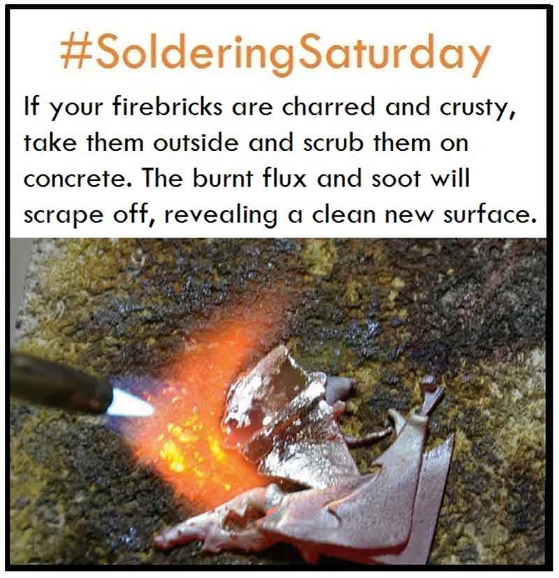 Studio Tip for Keeping Your Firebricks Clean and Ready for Soldering