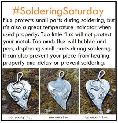 #solderingSaturday tip: learn to use just the right amound of flux during soldering