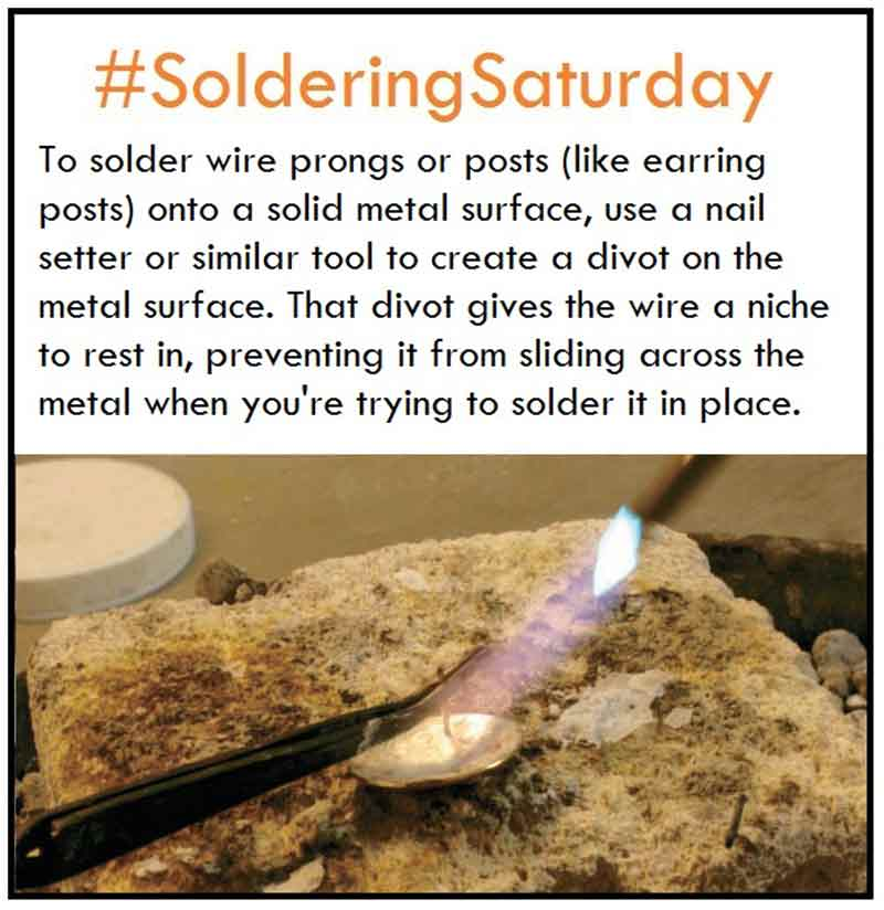 How-To Tip for Soldering Posts Onto Metal