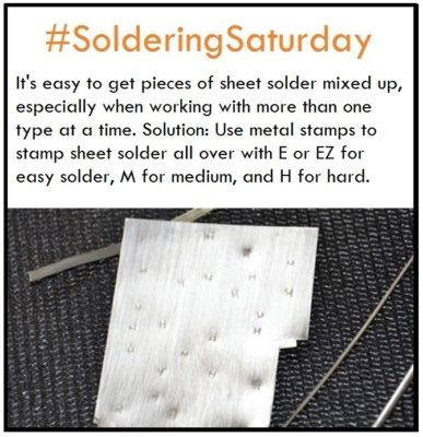 #solderingsaturday sheet solder tip