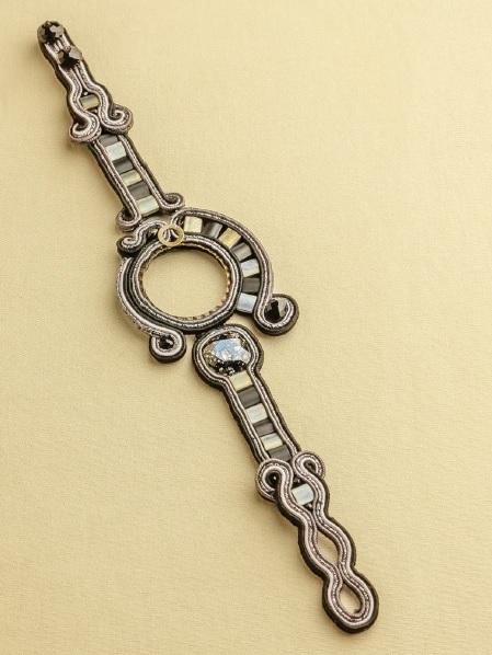 soutache jewelry making bracelet by Csilla Papp