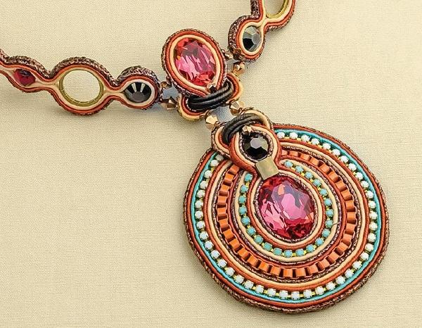 soutache jewelry making choker by Csilla Papp
