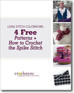 Learn how to do the crochet spike stitch in this FREE guide.