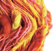 Learn how to spin prepared and unprepared fibers in this free eBook on spinning novelty yarn and techniques for creating art yarn.