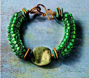 Learn how to knit with wire and beads in this free bracelet-making tutorial.