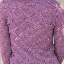 Spring Crocus color example knit cardigan