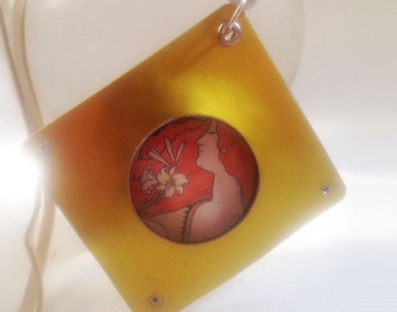 spring jewelry: goddess pendant by Karla Rosenbusch