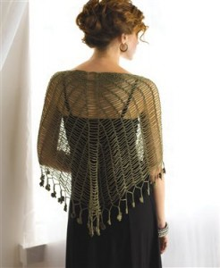 Learn how to crochet the beautiful Sprout Chains Shawlette in the free 5 free shawl patterns eBook.