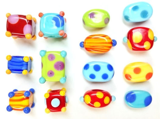 squashed-lampwork-glass-beads