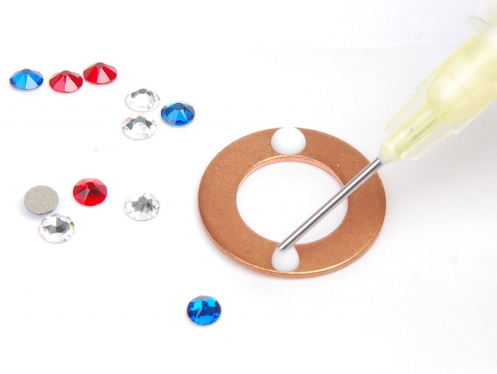 sparkle sprockets step 6b. Free jewelry–making project using Swarovski crystals