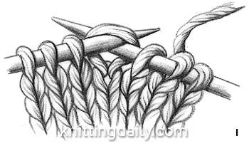 Slip Slip Knit Decrease fig 1