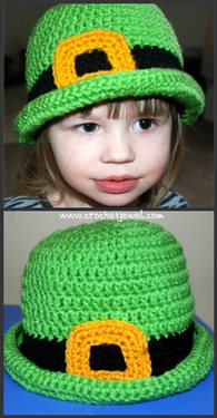 This St. Patrick's Day crochet hat is fun and warm