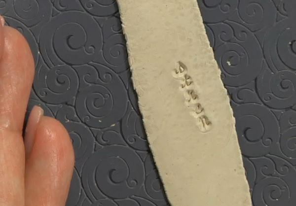metal stamping in metal clay