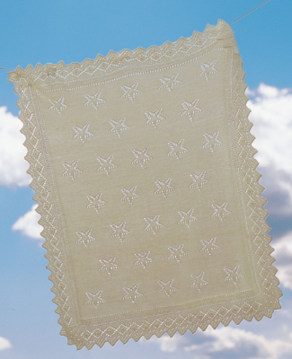 Free knitted baby blanket pattern: Star Light, Star Bright Baby Blanket pattern