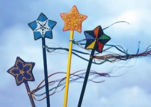 The Star Topped Magic Wand is a beaded pattern found in our free Beaded Ornament eBook.