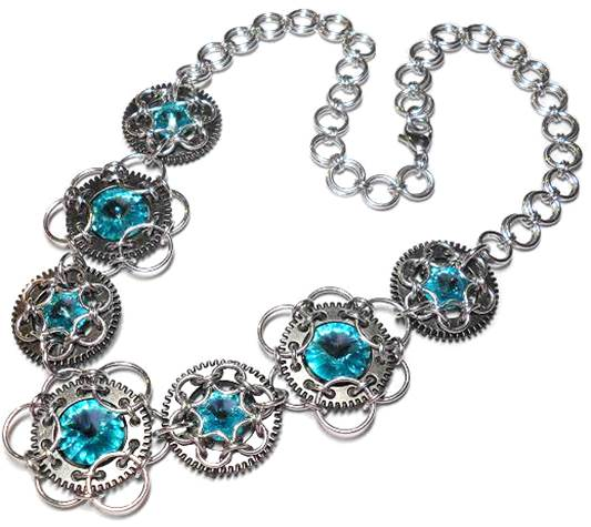 Chain Maille Jewelry Design: It's All About the Unit. Stardust Necklace by Michelle Brennan